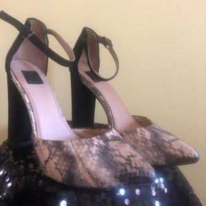 Ella Moss snake print heel